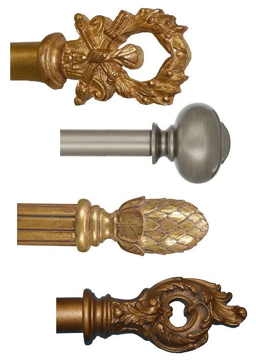 decorative curtain hardware