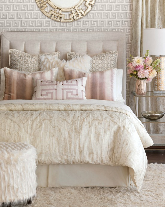 pink-beige-white-bedroom-bedding