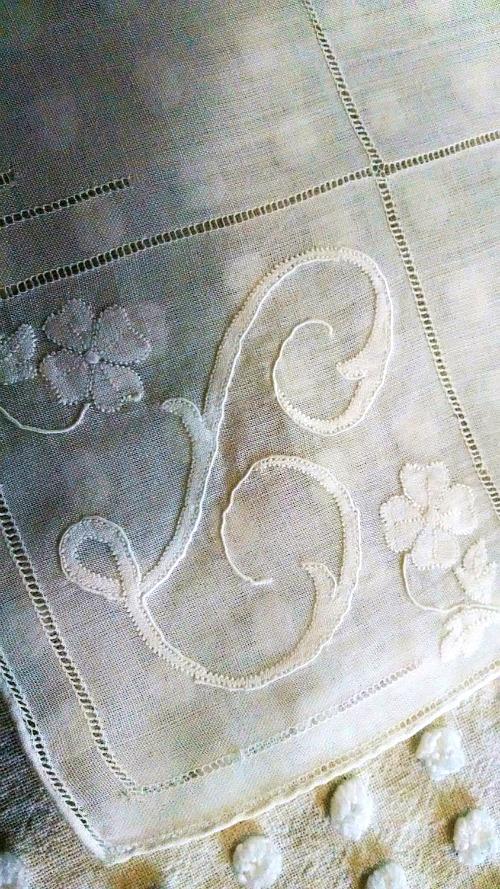 vintage ladies handkerchief