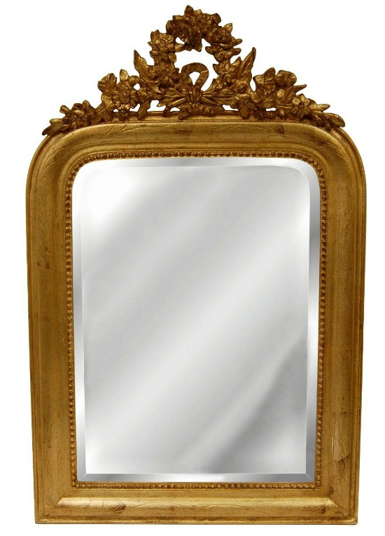 gold leaf antique mirror