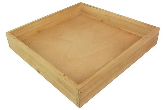 Natural Wood Square Tray by Ashland