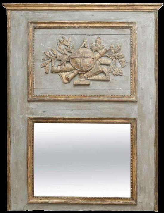 French-trumeau-mirror