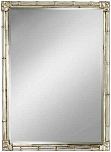 decorative silver bamboo mirror