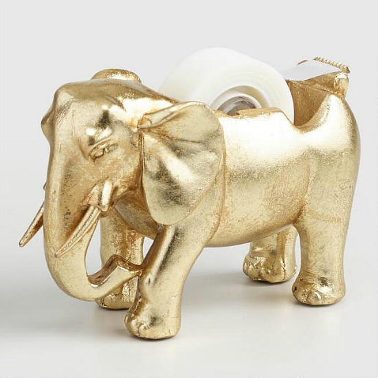 Gold Elephant Tape Dispenser