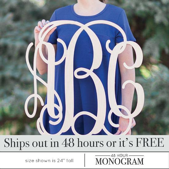 monogram-wooden