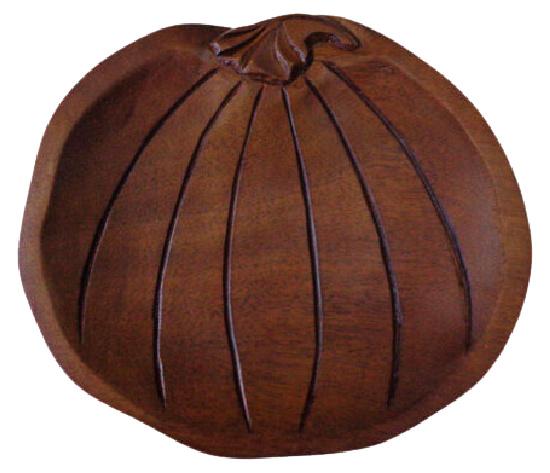 Autumn Wooden Pumpkin Platter