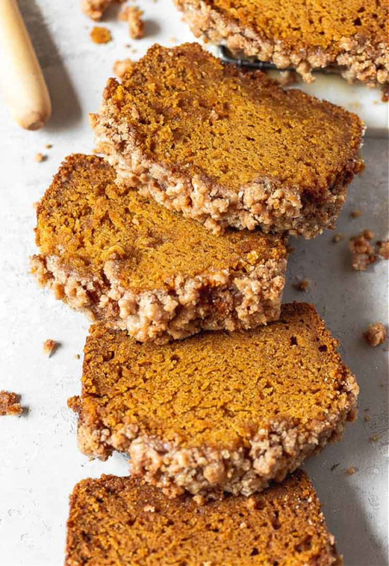 Moist Pumpkin Bread with Maple Glaze