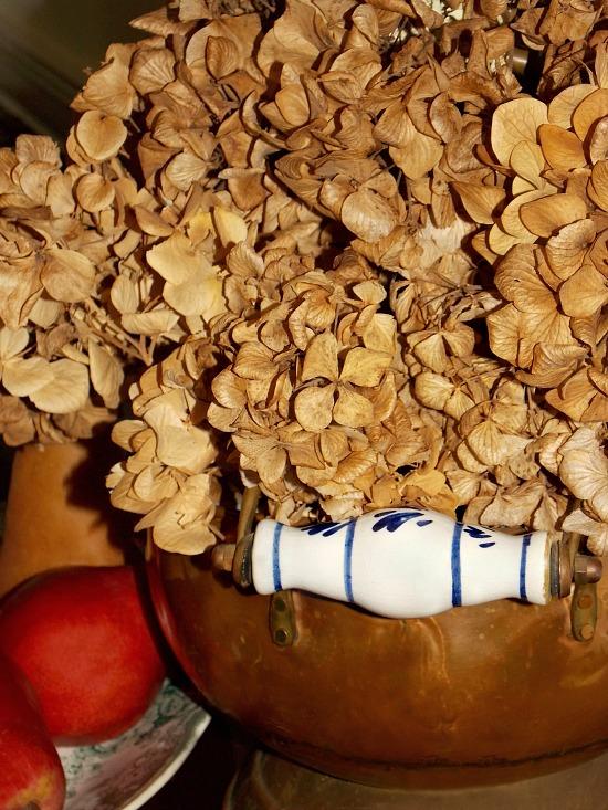 dried-hydrangea-pears-copper-coal-kettle