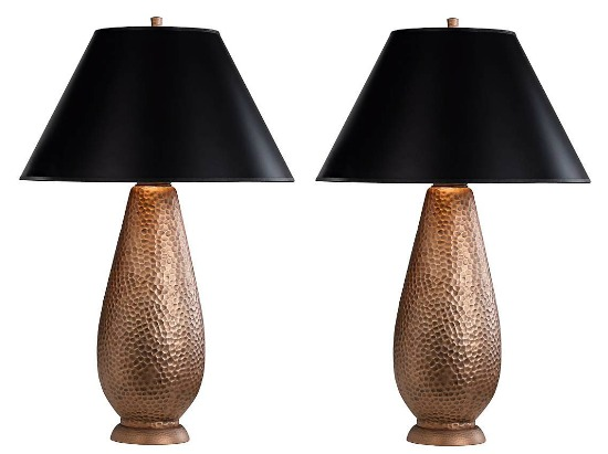 hammered-copper-table-lamp