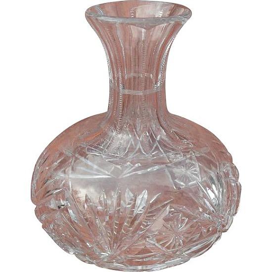 American Brilliant Period Water Wine Liquor Decanter Carafe