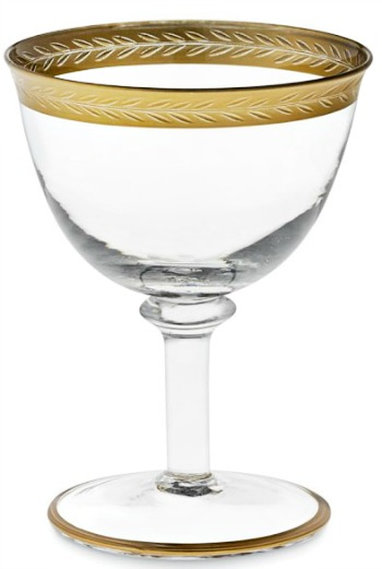 Gold Rim Coupe Glasses
