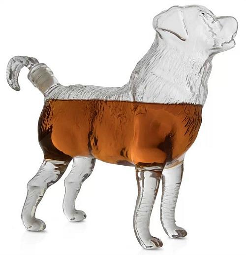 Katrina Dog Shaped Liquor Whiskey Decanter