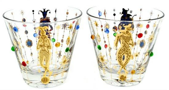 Vintage Culver Mardi Gras Jester Glasses