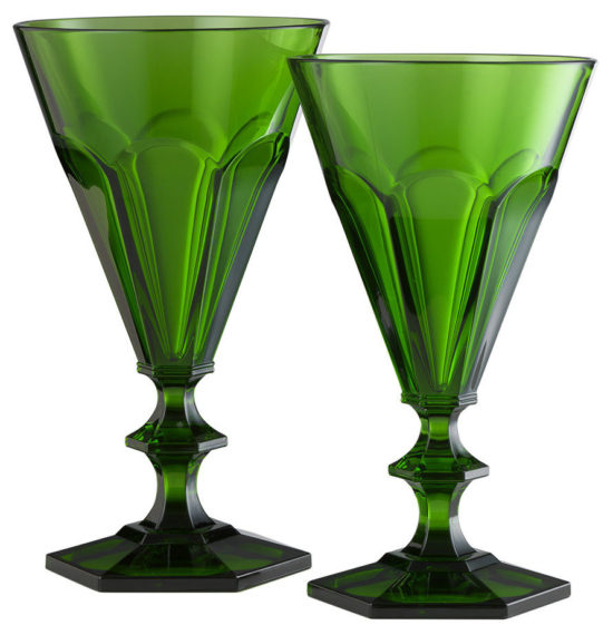 Giada Acrylic Wine Glass - Green - Large