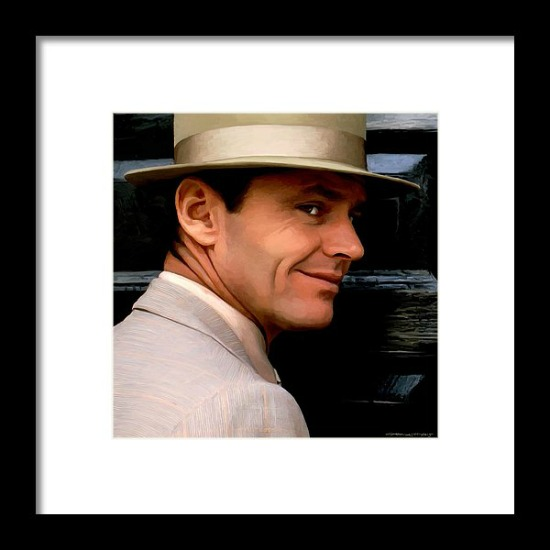 Jack Nicholson @ China Town Framed Print