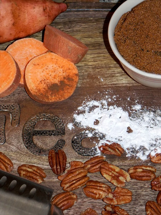 sweet-potatoes-pecans-flour-brown-sugar