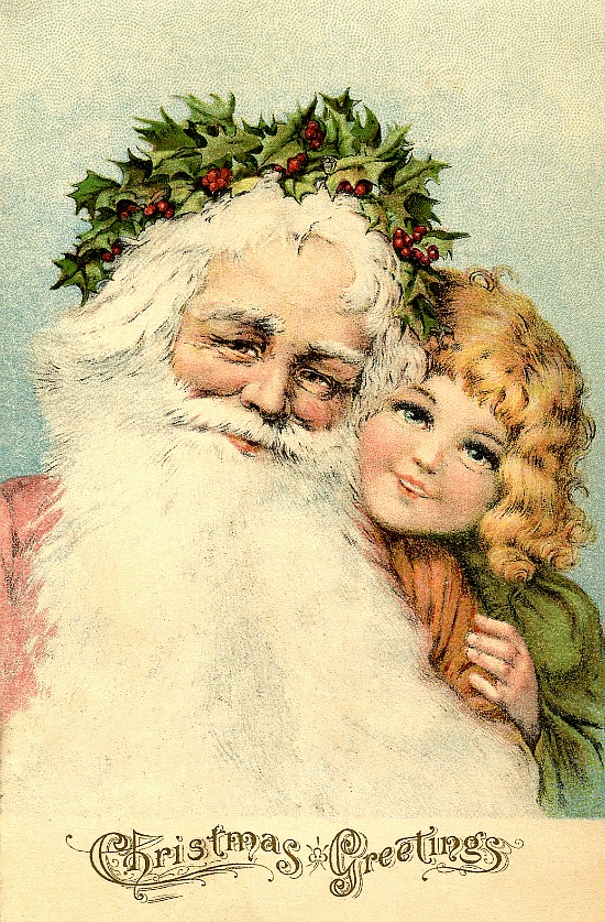 Victorian-Santa-Postcard-GraphicsFairy