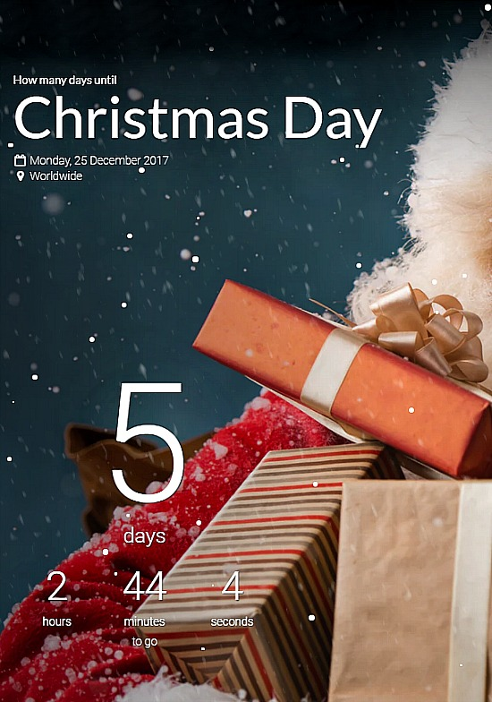 Five Days Until Christmas