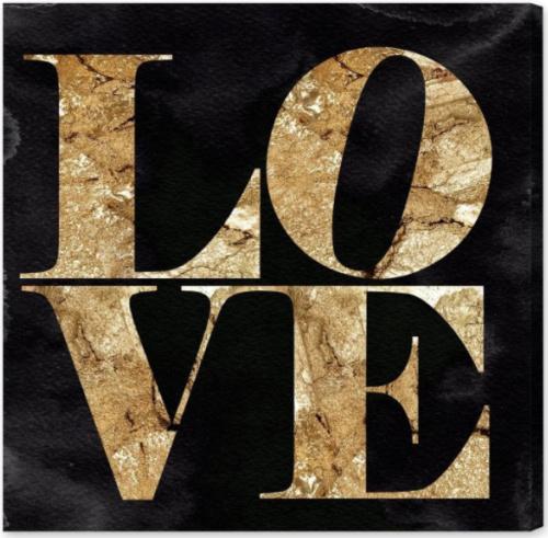 LOVE-canvas-black-gold