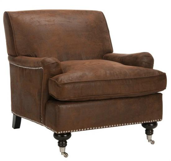 Safavieh Chloe Brown Club Chair