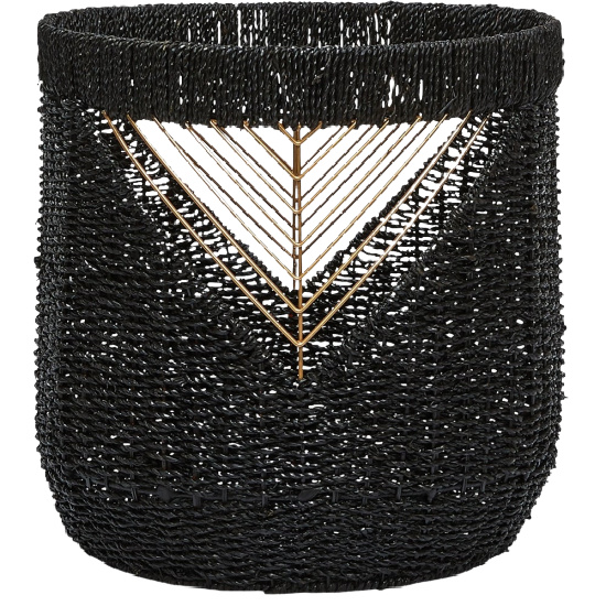 The-Curated-Nomad-Lucky-Black-and-Gold-Seagrass-Basket