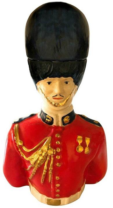 Vintage Royal Regiment Ceramic Soldier Cologne Decanter