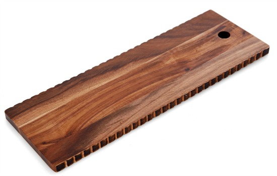 Elements 18 inch Wave Edge Acacia Wood Cheese Board