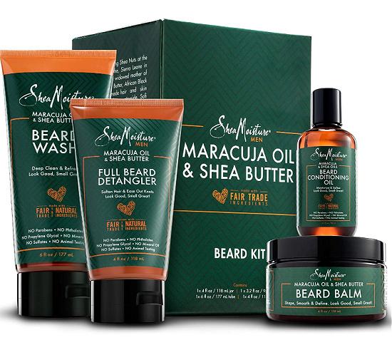 shea moisture maracuja oil and shea butter shaving set