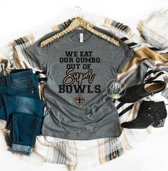 Super Bowl 2019 Tee, Black and Gold Tee, Unisex Football Tee, New Orleans Football Shirt