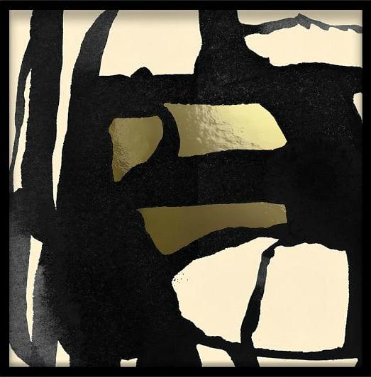 The Arts Capsule Framed Print - 19 Ink K + Gold