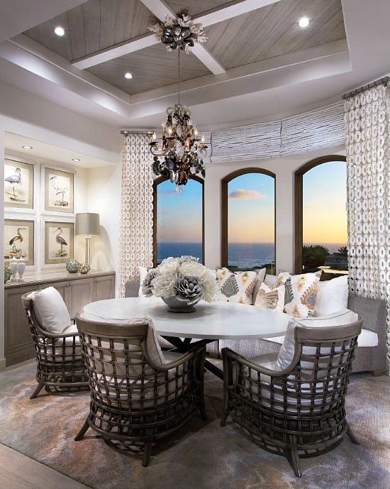 Frank Pitman Designs coastal dining room