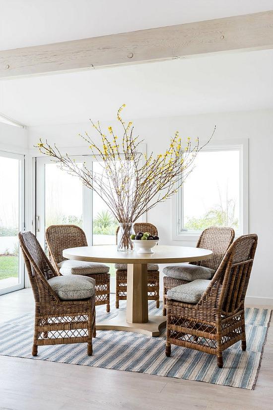 Hive LA Home coastal beach dining room