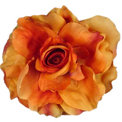 Orange-Rose-flower-pin