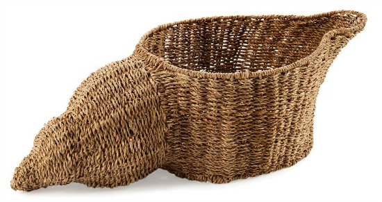 Seagrass Shell Basket