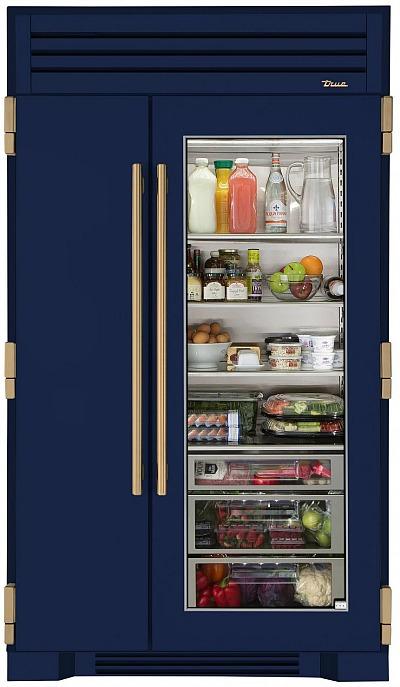 True-refrigerator-glass-door-blue