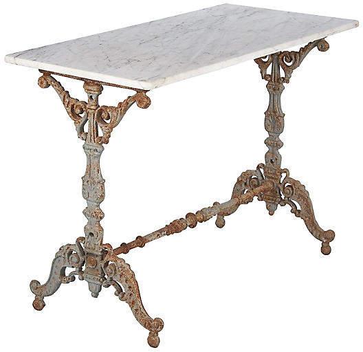 Spanish iron marble bistro table