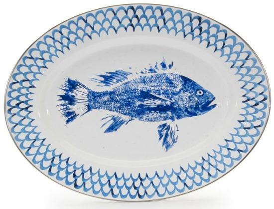 pescado-enamel-oval-serving-platter
