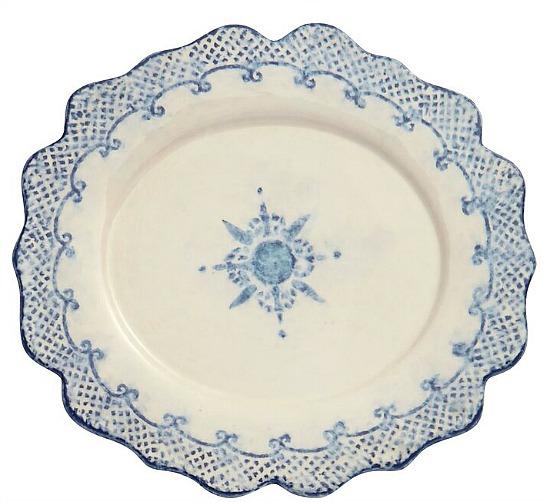 Burano+Oval+Scalloped+Platter