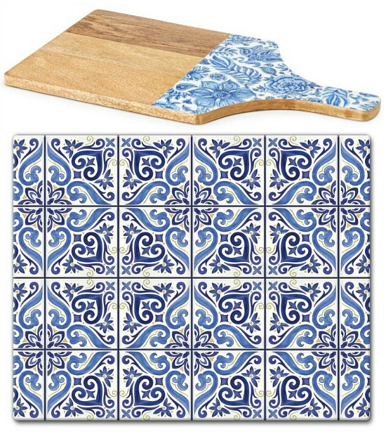 CounterArt Tempered Glass Shades Cutting Board