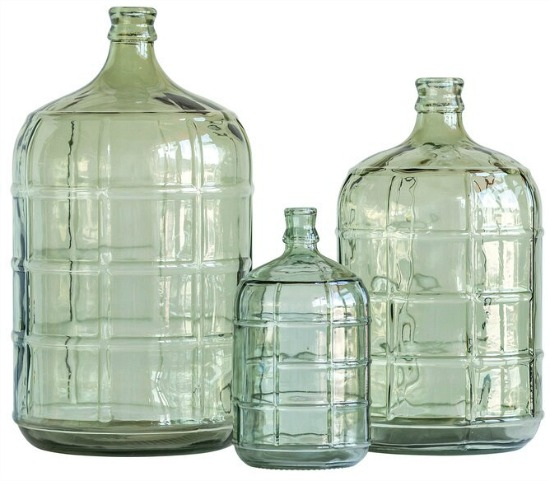 Green Glass Decorative Bottles
