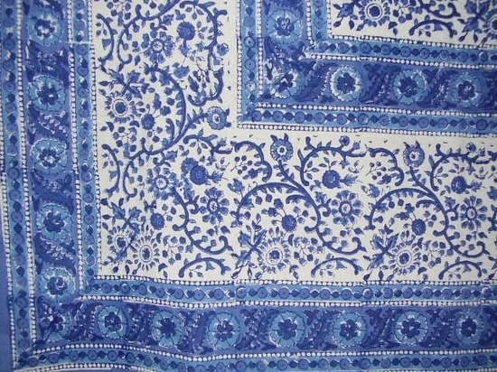 Homestead Rajasthan Block Print Cotton Tablecloth
