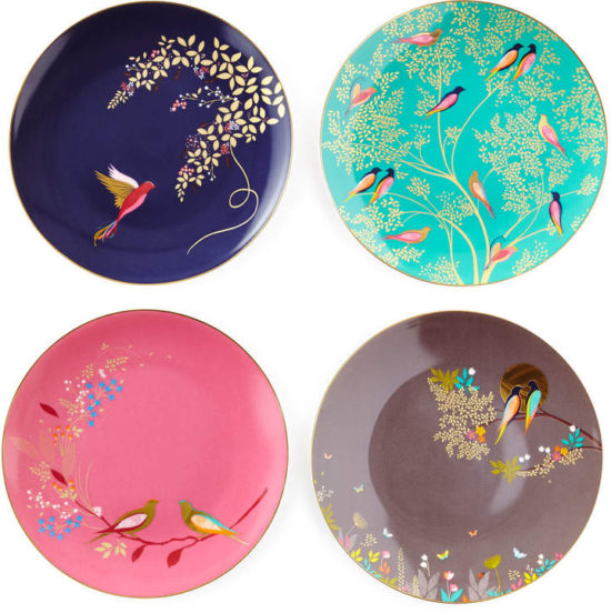 Portmeirion-Sara-Miller-Gold-Plated-Assorted-Plates
