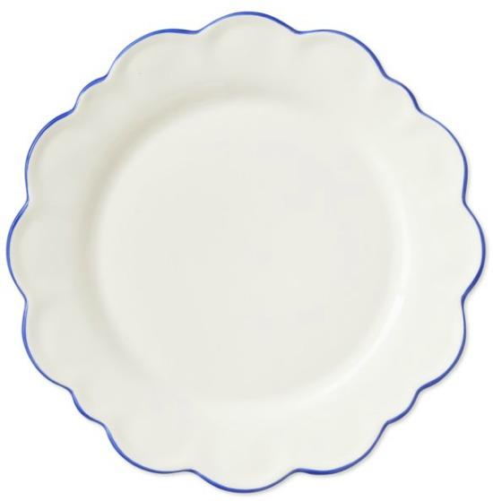 AERIN Scalloped Rim Salad Plate, Each, Blue