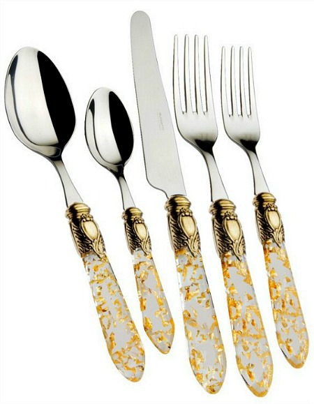 gold+10+Stainless+Steel+Flatware+Set