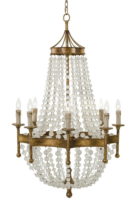 Frosted-crystal-bead-chandelier