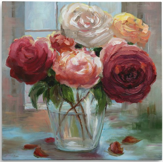 Rose+Society+Oil+Painting+Print+on+Wrapped+Canvas