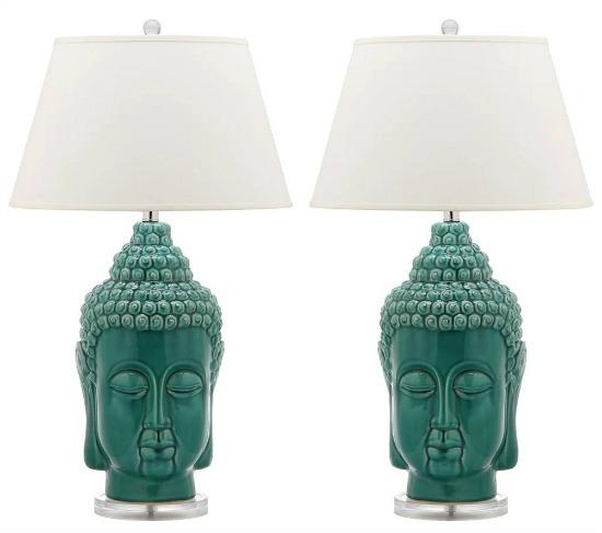 Safavieh Lighting Serenity Teal Buddha Lamp