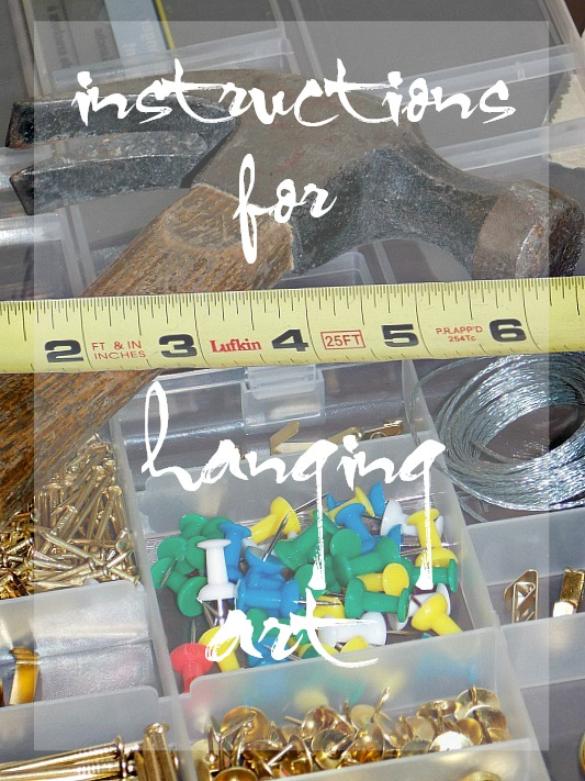 instructions for hanging art