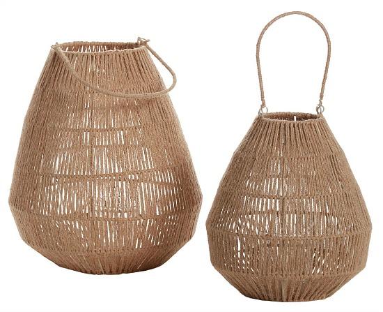 natural jute outdoor lanterns