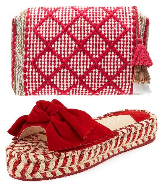 red-espadrille-slide-sandal-woven-bag